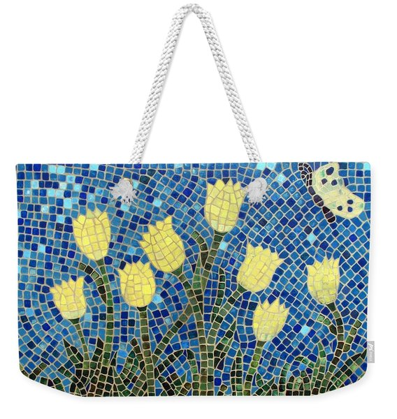 Weekender Tote Bag featuring the painting Sunshine by Cynthia Amaral