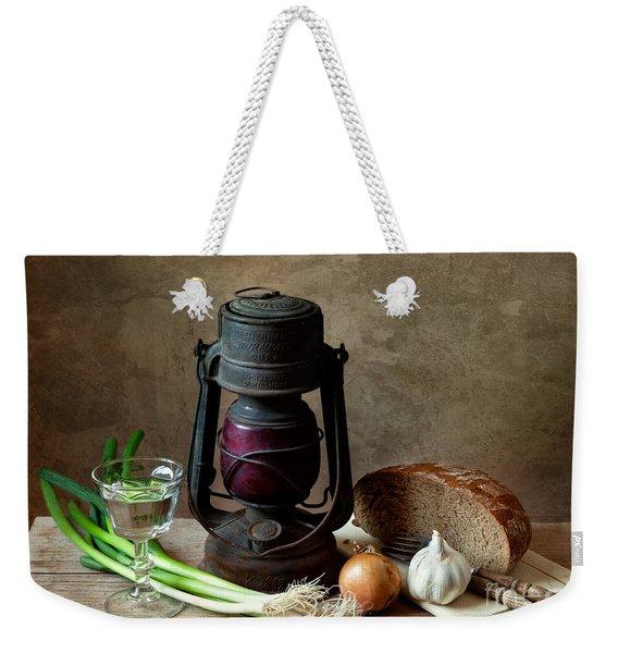 Supper Weekender Tote Bag