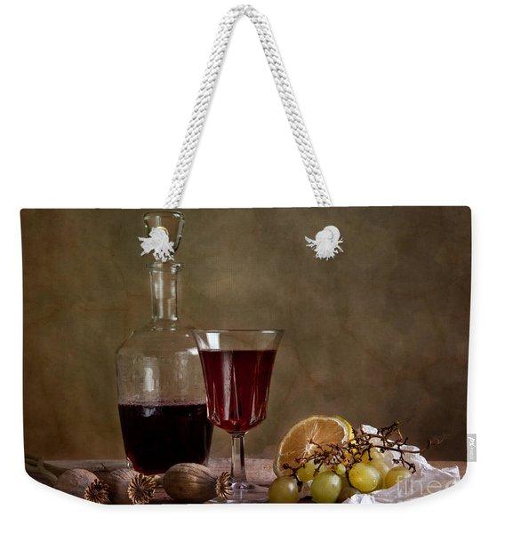 Supper With Wine Weekender Tote Bag