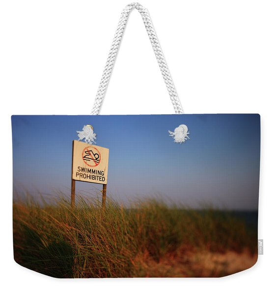 Swimming Prohibited Weekender Tote Bag