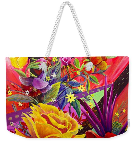 Weekender Tote Bag featuring the painting Symphony by Nancy Cupp