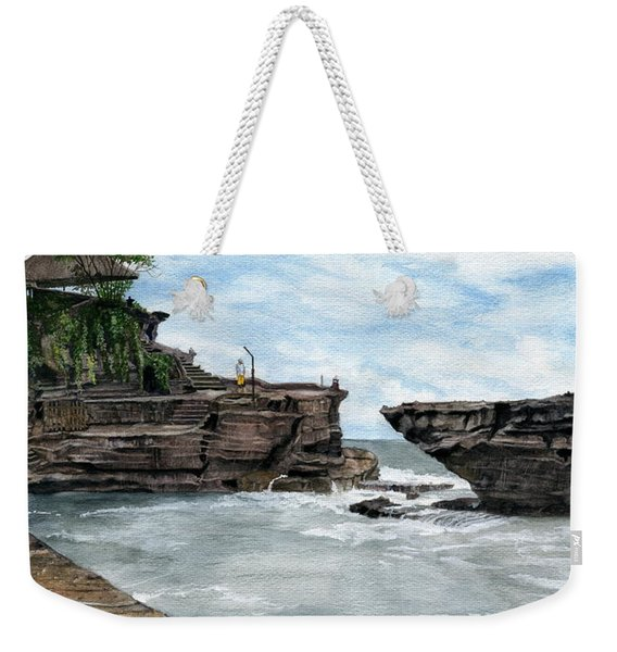 Tanah Lot Temple II Bali Indonesia Weekender Tote Bag