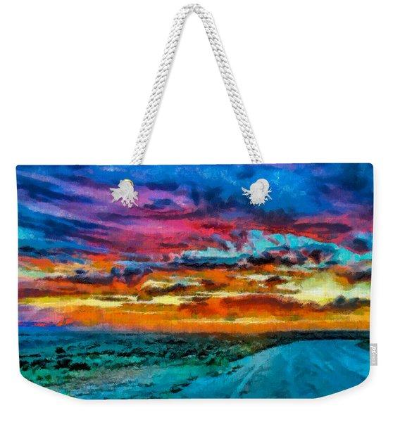 Taos Sunset Iv Wc Weekender Tote Bag