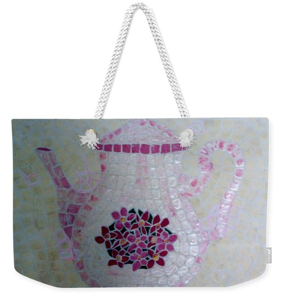 Weekender Tote Bag featuring the painting Tea Pot by Cynthia Amaral