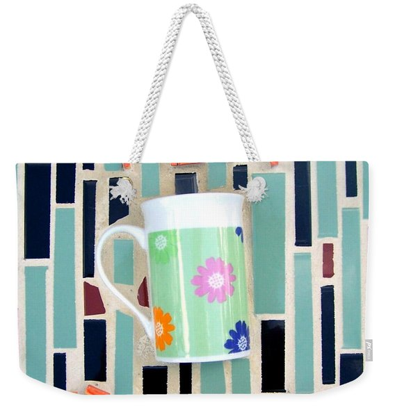 Weekender Tote Bag featuring the mixed media Tea Room by Cynthia Amaral