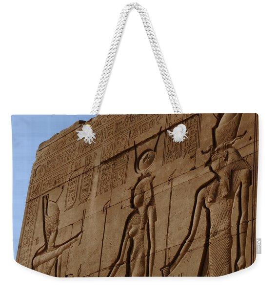 Temple Of Dendara Egypt Weekender Tote Bag