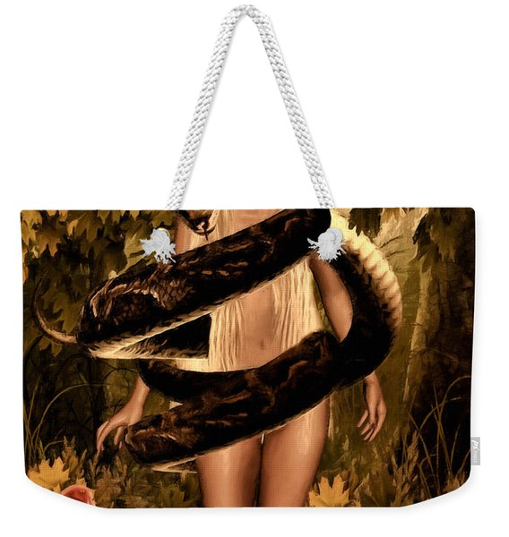 Temptation And Fall Weekender Tote Bag
