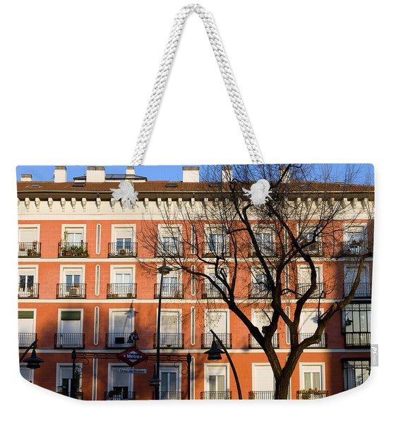 Tenement House Facade In Madrid Weekender Tote Bag