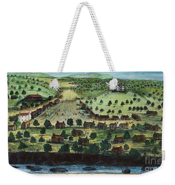 Texas: City Of Austin 1840 Weekender Tote Bag