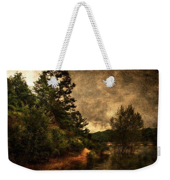 Textured Lake Weekender Tote Bag