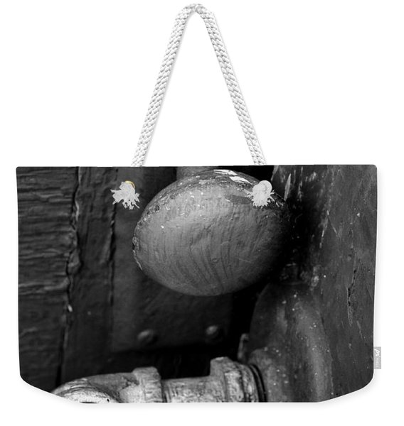 Weekender Tote Bag featuring the photograph The Cellar by Ron Cline