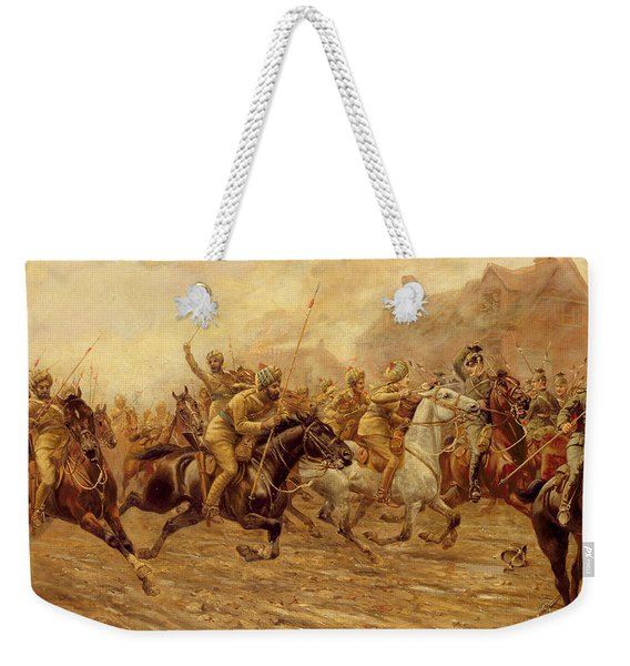 The Charge Of The Bengal Lancers At Neuve Chapelle Weekender Tote Bag