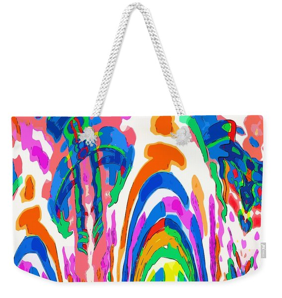 The Colors Fountain Weekender Tote Bag