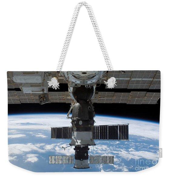 The Docked Soyuz 14 And Progress 26 Weekender Tote Bag