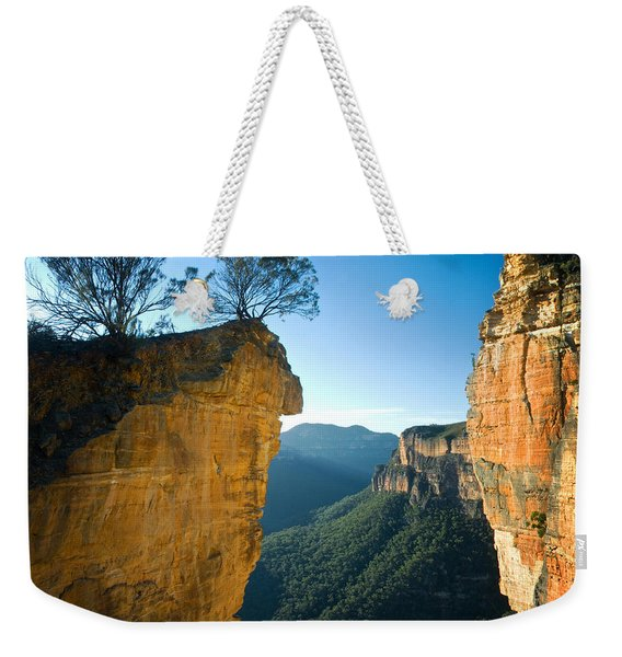 The Famous Hanging Rock Is Silhouetted Weekender Tote Bag