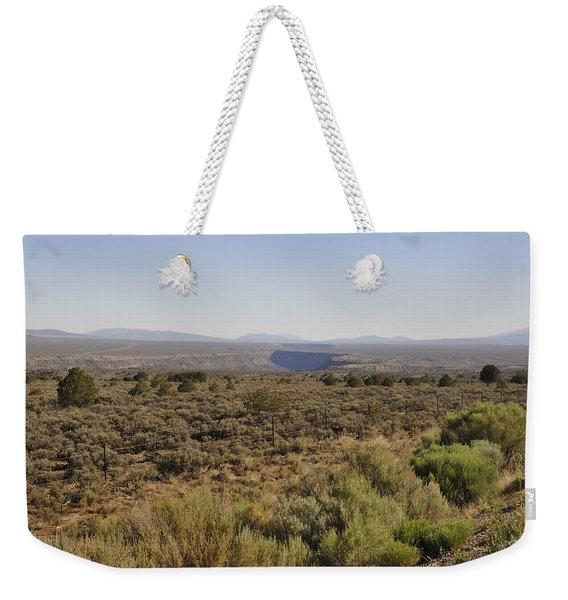 Weekender Tote Bag featuring the photograph The Gorge On The Mesa by Ron Cline