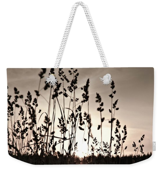 The Grass At Sunset Weekender Tote Bag