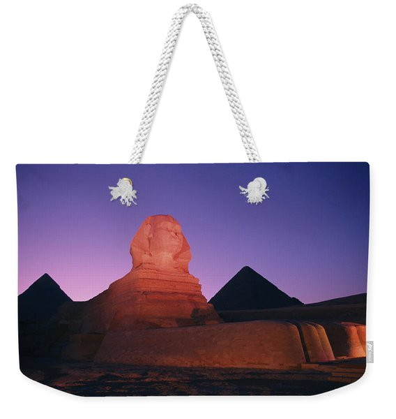 The Great Sphinx Is Illuminated Weekender Tote Bag