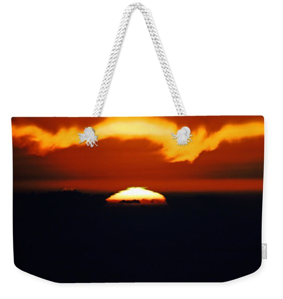 The Green Flash Is A Rare Sunset Weekender Tote Bag