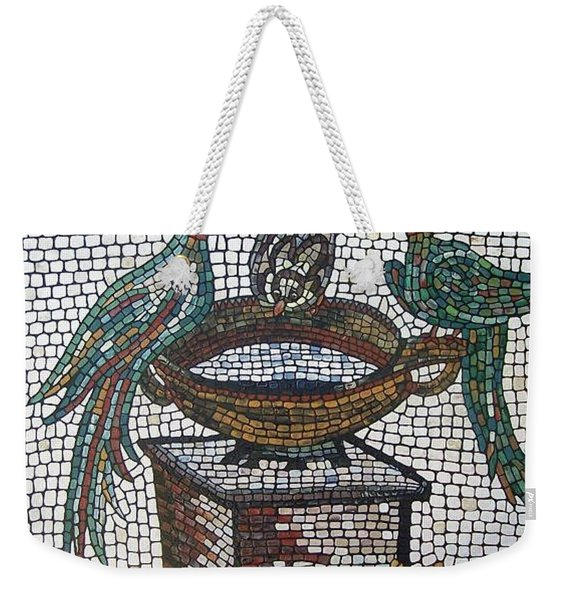 Weekender Tote Bag featuring the painting The Hang Out by Cynthia Amaral