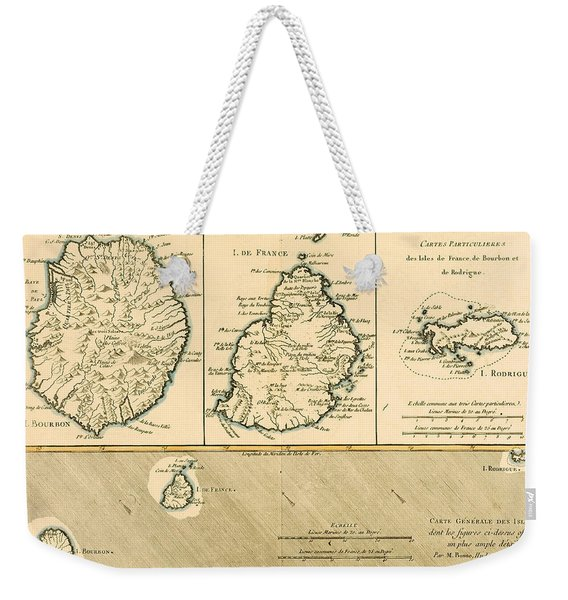 The Islands Of Rodriguez Isle De France And Bourbon Weekender Tote Bag