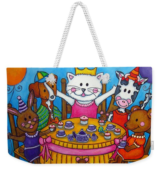 The Little Tea Party Weekender Tote Bag