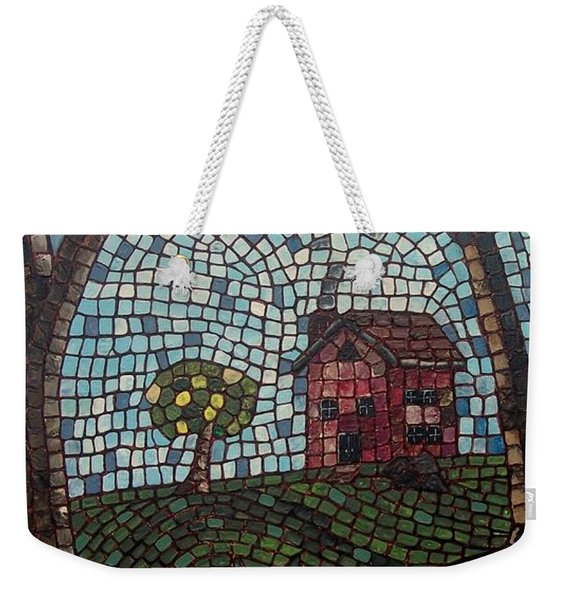 Weekender Tote Bag featuring the painting The Pond by Cynthia Amaral