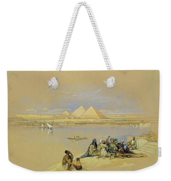 The Pyramids At Giza Near Cairo Weekender Tote Bag