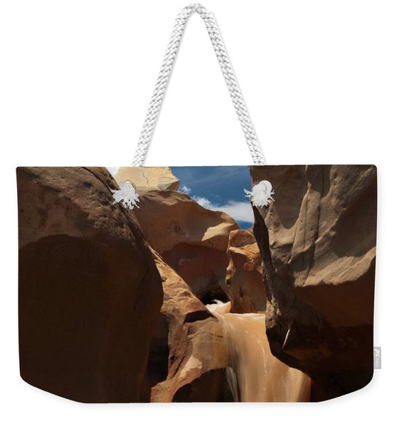 The Red Clay Faces Of  Willis Creek.  Utah.  Weekender Tote Bag
