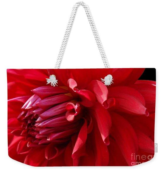 The Red Dahlia Weekender Tote Bag