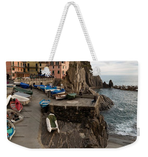 The Sea Awaits Weekender Tote Bag