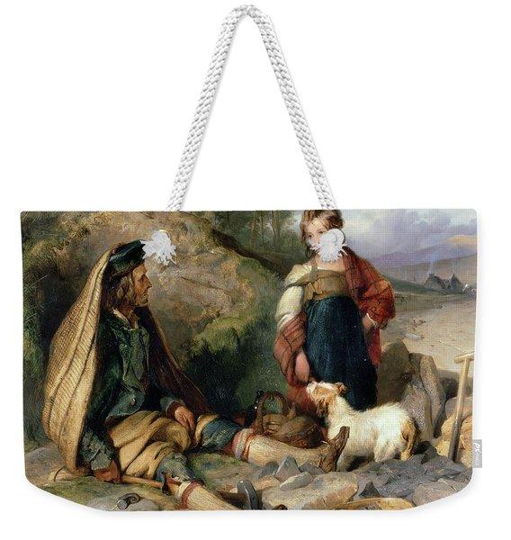 The Stone Breaker And His Daughter Weekender Tote Bag