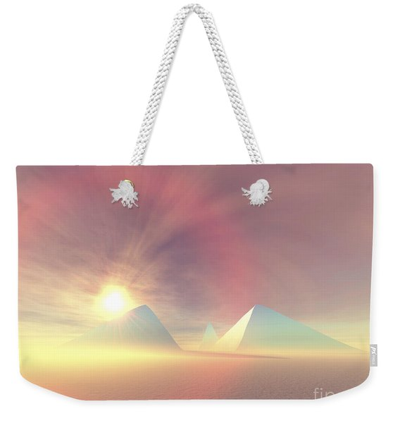 The Sun Rises On Egyptian Pyramids Weekender Tote Bag