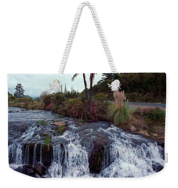 The Waterfall In The Stream Weekender Tote Bag