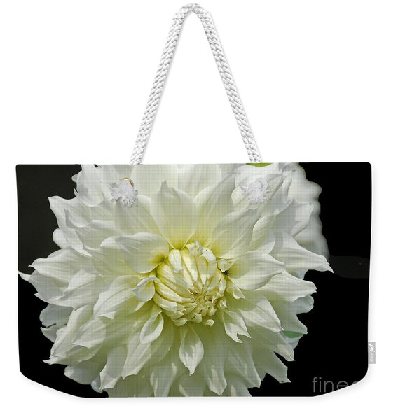 The White Dahlia Weekender Tote Bag