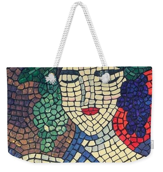 Weekender Tote Bag featuring the painting The Winery by Cynthia Amaral