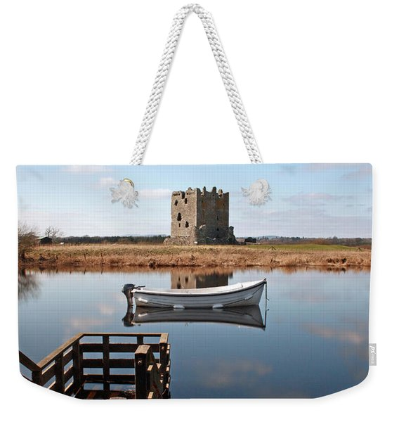 Threave Castle Reflection Weekender Tote Bag