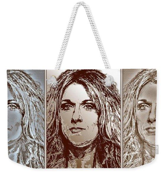 Three Interpretations Of Celine Dion Weekender Tote Bag