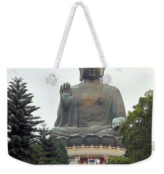 Tian Tan Buddha Weekender Tote Bag