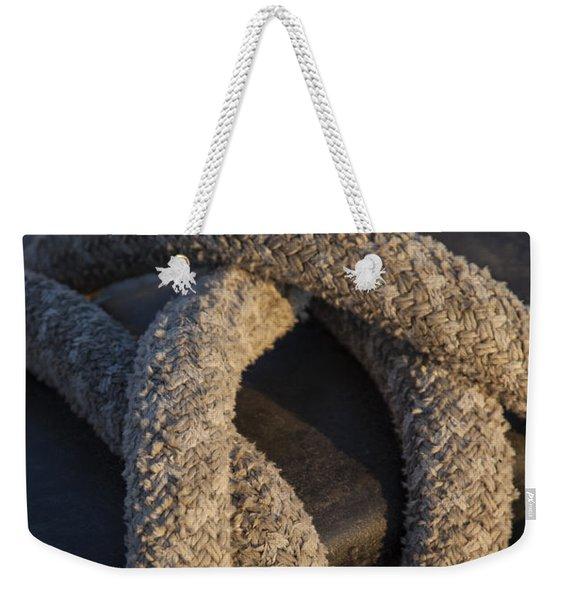 Tie Down Weekender Tote Bag