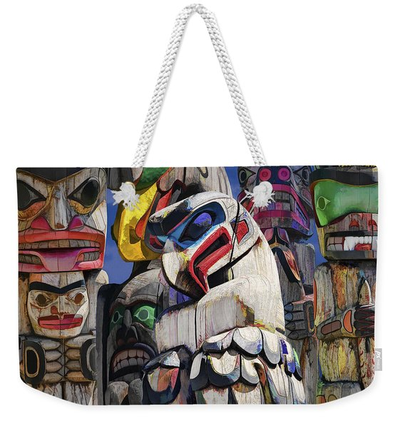 Totem Poles In The Pacific Northwest Weekender Tote Bag