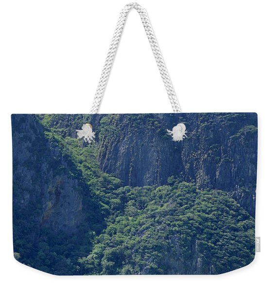 Tourist Speed Boats Anchored Weekender Tote Bag