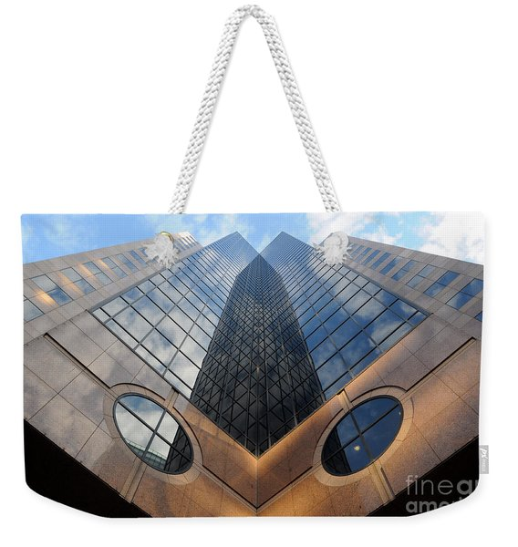 Towering Modern Skyscraper In Downtown Weekender Tote Bag