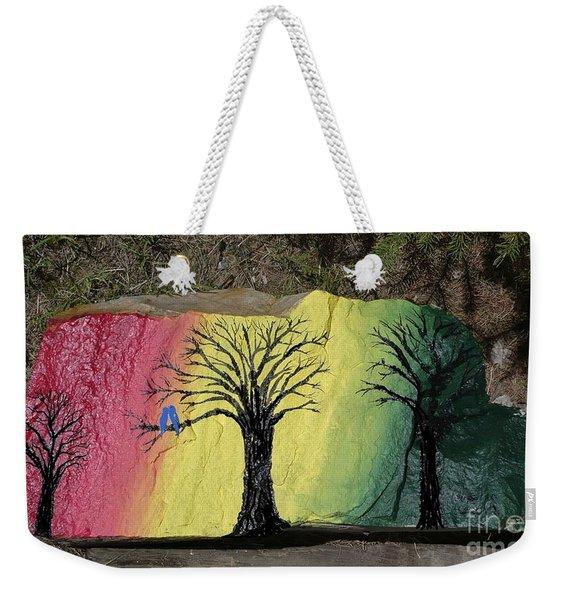 Tree With Lovebirds Weekender Tote Bag