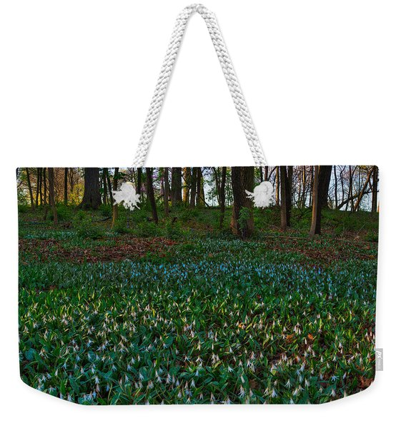 Trout Lilies On Forest Floor Weekender Tote Bag