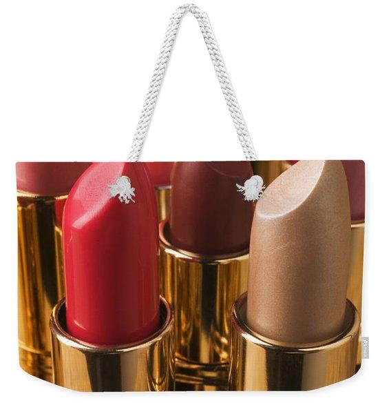 Tubes Of Lipstick Weekender Tote Bag