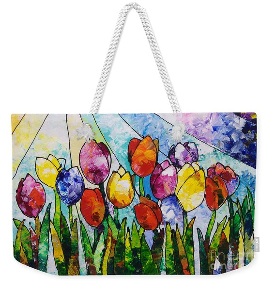 Tulips On Parade Weekender Tote Bag