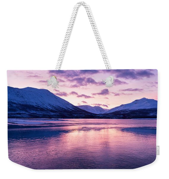 Twilight Above A Fjord In Norway With Beautifully Colors Weekender Tote Bag