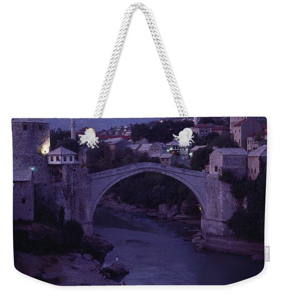 Twilight View Of A 15th-century Bridge Weekender Tote Bag