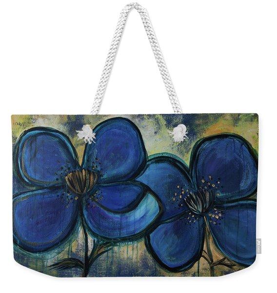 Two Blue Poppies Weekender Tote Bag